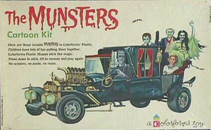 The Munsters Colorforms box