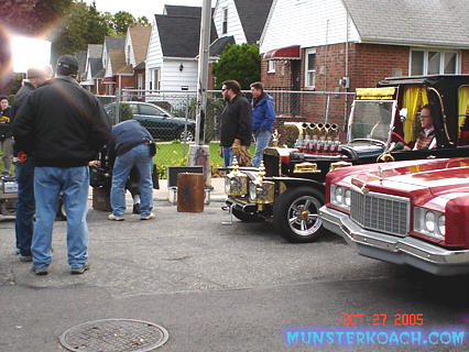 Filming a TV Land commercial 10-27-05
